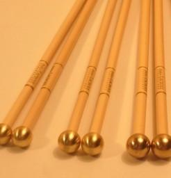 Baguettes de Glockenspiel Tête laiton 14- 15 et 16 mm
