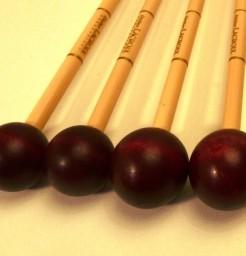Baguettes  de xylophone Tête en Buis teinté acajou ref X3