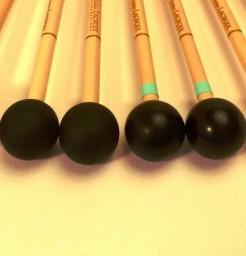 Baguettes xylophone caoutchouc dur ou médium ref X4
