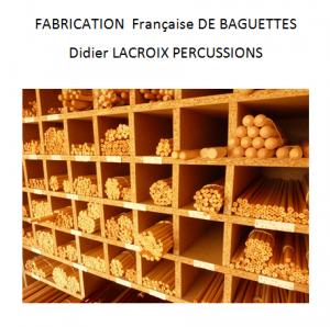 Atelier de fabrication de baguettes de percussions Didier Lacroix percussions