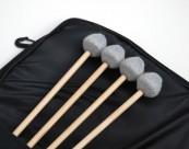 Etude Vibra Marimba tête jazz chorus jeux de 4 baguettes MANCHE ROTIN + sac