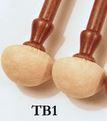Timbale baroqie manche bois du Brésil tête peau de chamoisTB1 tête peau de chamois