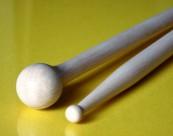 Baguette de multi percussions bois de hêtre double tête MP4