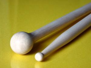 Baguette de multi percussions bois de charme didier la croix double tête