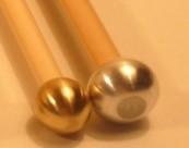 Baguettes de Glockenspiel Double tête Aluminium et laiton